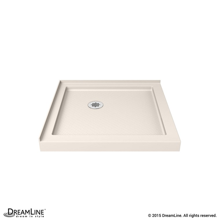 "Bath Authority DreamLine SlimLine Double Threshold Shower Base (32"" by 32"") - Biscuit DLT-1032320-22"
