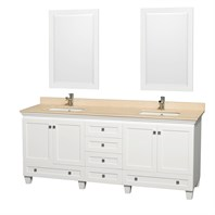 "Acclaim 80"" Double Bathroom Vanity Set by Wyndham Collection - White WC-CG8000-80-WHT"