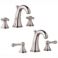 Grohe Geneva Low Spout Lavatory Wideset - Sterling Infinity Finish