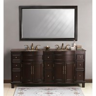 "Virtu USA Cathy 72"" Double Sink Bathroom Vanity - Espresso LD-1090"