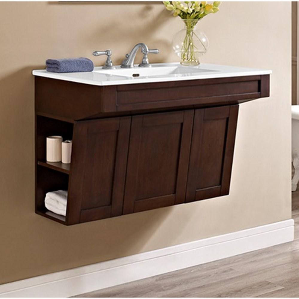 "Fairmont Designs Shaker Americana 36"" Wall Mount Vanity - Habana Cherrynohtin Sale $855.00 SKU: 1513-WV3621 :"