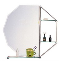 "ZHJ2 Bathroom Mirror with Glass Shelf (31"" x 29"")"