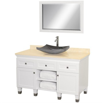 Premiere 48 bathroom vanity by wyndham collection white free shipping modern bathroom Premiere bathroom design reviews