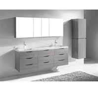 "Madeli Bolano 72"" Double Bathroom Vanity for X-Stone Top - Ash Grey B100-72-002-AG-XSTONE"