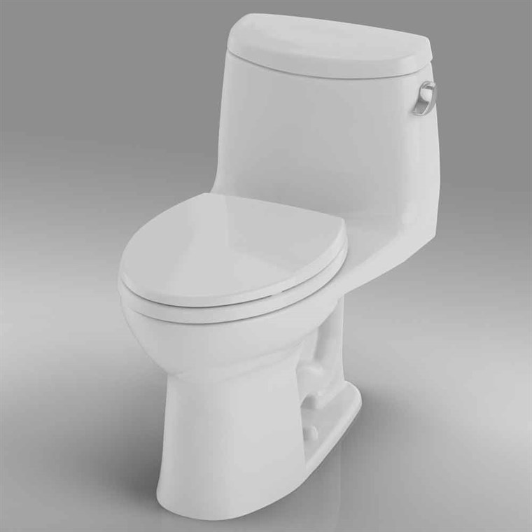 TOTO UltraMax II One-Piece Elongated Toilet, 1.28 GPF - Right Hand Trip Lever, SoftClose Seat Included MS604114CEFRG.01