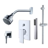 fluid Quad - Handheld Shower with Slide Bar Trim Package F1654T-