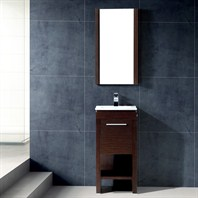 Vigo 16-inch Aristo Single Bathroom Vanity with Mirror - Wenge VG09010118K