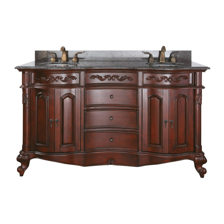 "Avanity Provence 61"" Double Bathroom Vanity - Antique Cherry PROVENCE-60-AC"