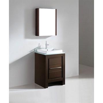"""Madeli Vicenza 24"""" Bathroom Vanity, Walnut B999-24-001-WA by Madeli"""