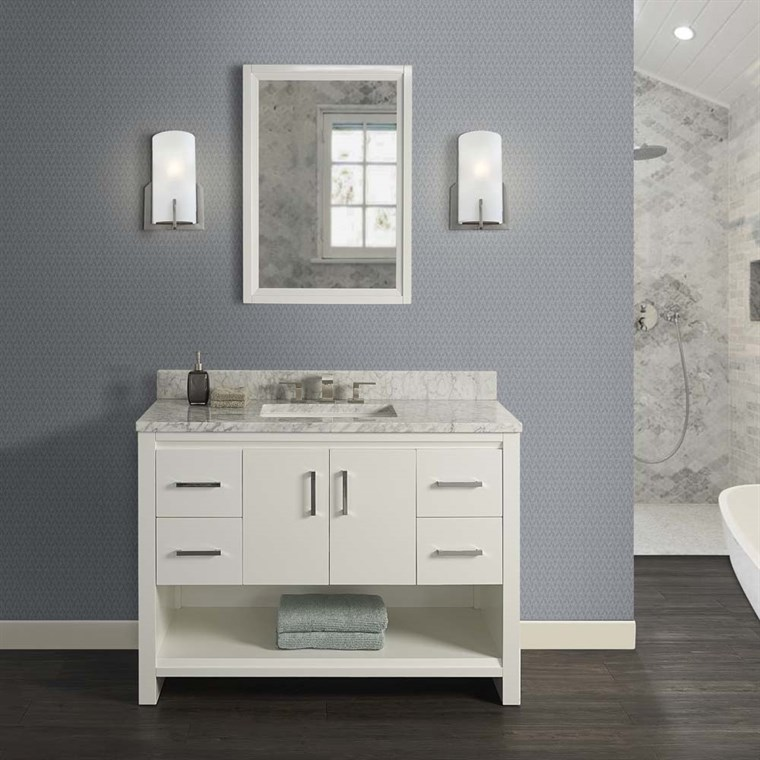 "Fairmont Designs Studio One 48"" Vanity - Glossy White 1517-V48"