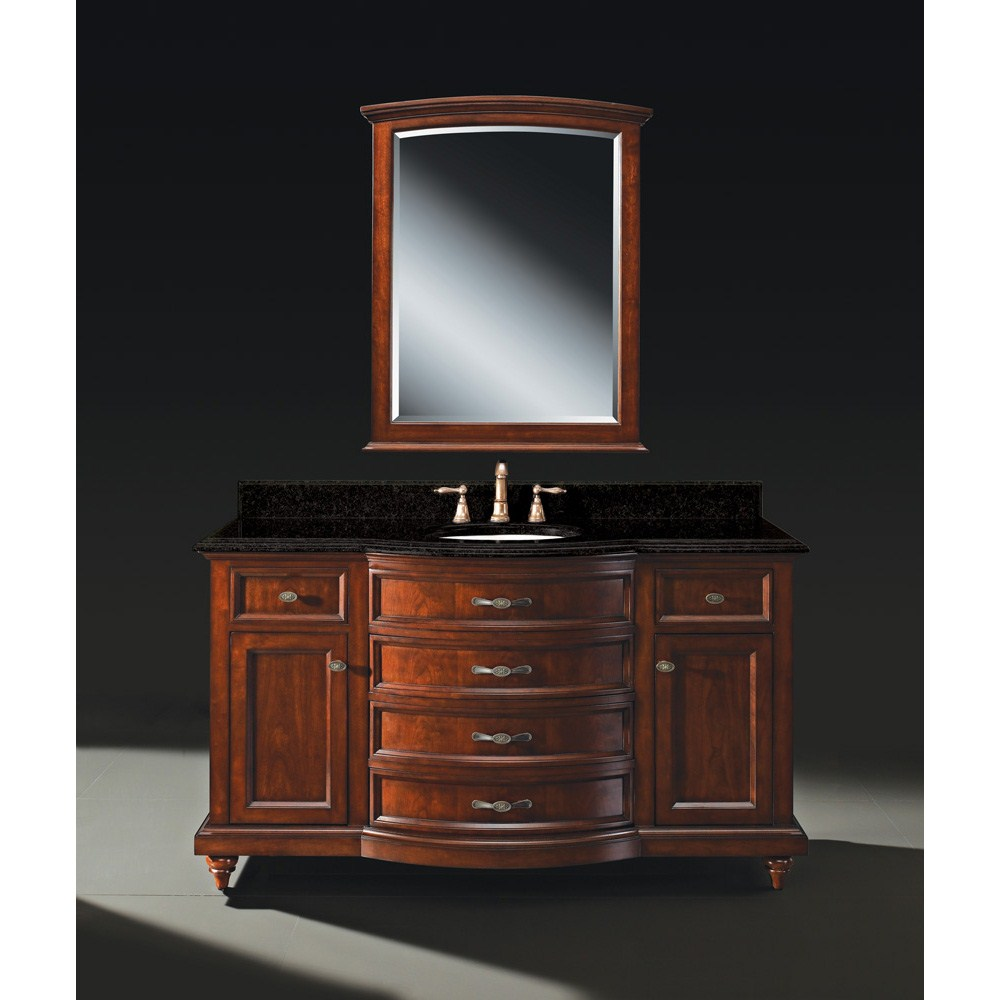 Luxe Carrington 60 Single Bathroom Vanity Meridian Cherry Free Shipping Modern