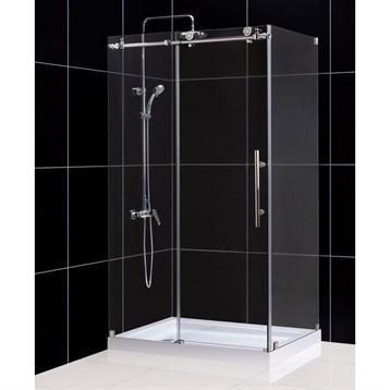 "Bath Authority DreamLine Enigma-X Fully Frameless Sliding Shower Enclosure, 34-1/2"" by 48-3/8"" SHEN-6134480 by Bath Authority DreamLine"