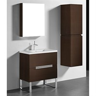 "Madeli Soho 30"" Bathroom Vanity for Integrated Basin - Walnut B400-30-001-WA"
