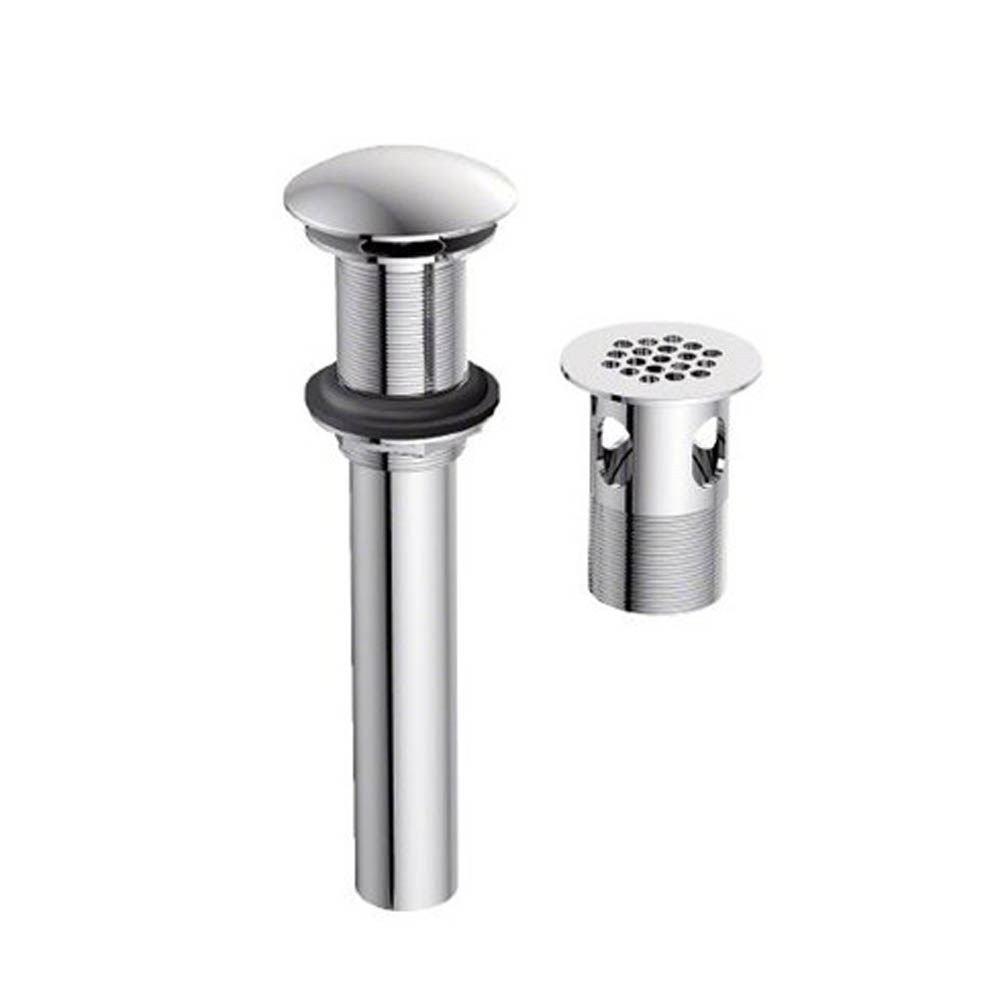 """Danze 1 1/4"""" Grid Strainer with or without Overflow - Brushed Nickel -  DA505928BN"""