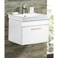 "Fairmont Designs Metropolitan 21"" Wall Mount Vanity & Sink Set - High Gloss White 177-WV21"
