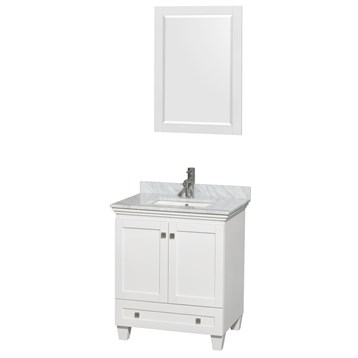 Acclaim 30 in. Single Bathroom Vanity by Wyndham Collection - White