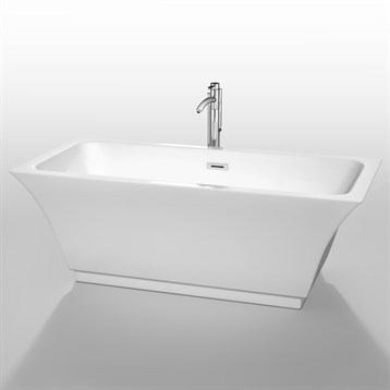 "Galina 67"" Soaking Bathtub by Wyndham Collection, White WC-BTK1519-67 by Wyndham Collection®"