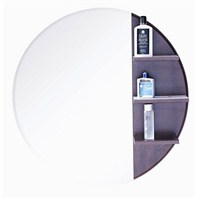 "ZHJ45 Bathroom Mirror with Shelves (30"" x 30"")"