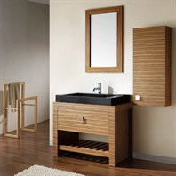 "Avanity Knox 39"" Single Bathroom Vanity Set with Black Granite Sink - Zebra Wood KNOX-VS39-ZW"