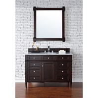 "James Martin 48"" Brittany Single Vanity - Burnished Mahogany 650-V48-BNM"