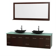 "Centra 80"" Double Bathroom Vanity Set for Vessel Sinks by Wyndham Collection - Espresso WC-WHE009-80-DBL-VAN-ESP"