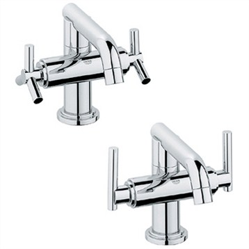 Grohe Atrio Low Spout Lavatory Centerset, Starlight Chrome by GROHE