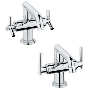 Grohe Atrio Low Spout Lavatory Centerset Starlight Chrome Free Shipping Modern Bathroom