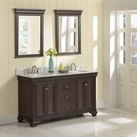 "Fairmont Designs Providence 60"" Double Bowl Vanity - Aged Chocolate 1529-V6021D"