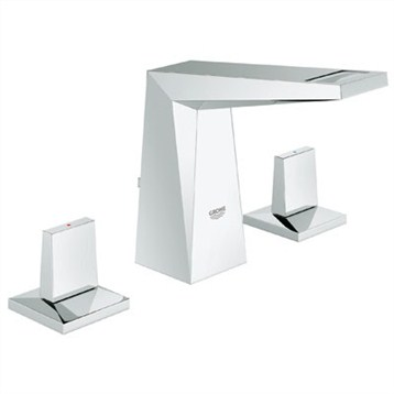 Grohe Allure Brilliant Lavatory Wideset, Starlight Chrome GRO 20343000 by GROHE
