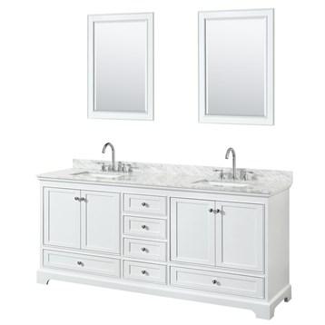 deborah 80 double bathroom vanity by wyndham collection white free shipping modern bathroom