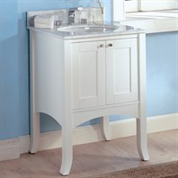 "Fairmont Designs 24"" Lifestyle Collection Shaker II Vanity - Polar White"