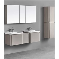 "Madeli Euro 60"" Double Bathroom Vanity for Integrated Basins - Silk 2X-B930-24-002-SK, UC930-12-007-SK"