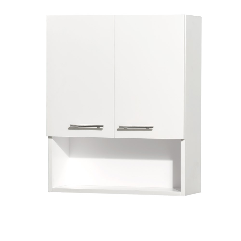 Centra Bathroom Wall Cabinet by Wyndham Collection - Matte White WC-V207-WC-WHT