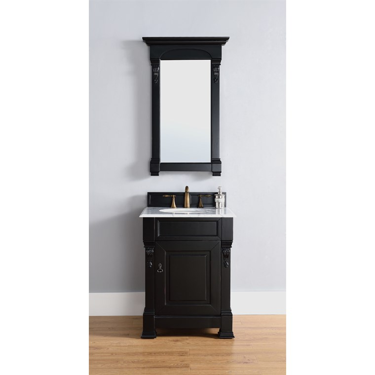 "James Martin 26"" Brookfield Single Cabinet Vanity - Antique Black 147-114-V26-AQB"