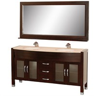 "Daytona 63"" Double Bathroom Vanity Set by Wyndham Collection - Espresso w/ Drawers WC-A-W2200-63-ESP-"