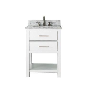 """Avanity Brooks 24"""" Single Bathroom Vanity with Countertop, White BROOKS-24-WT by Avanity"""