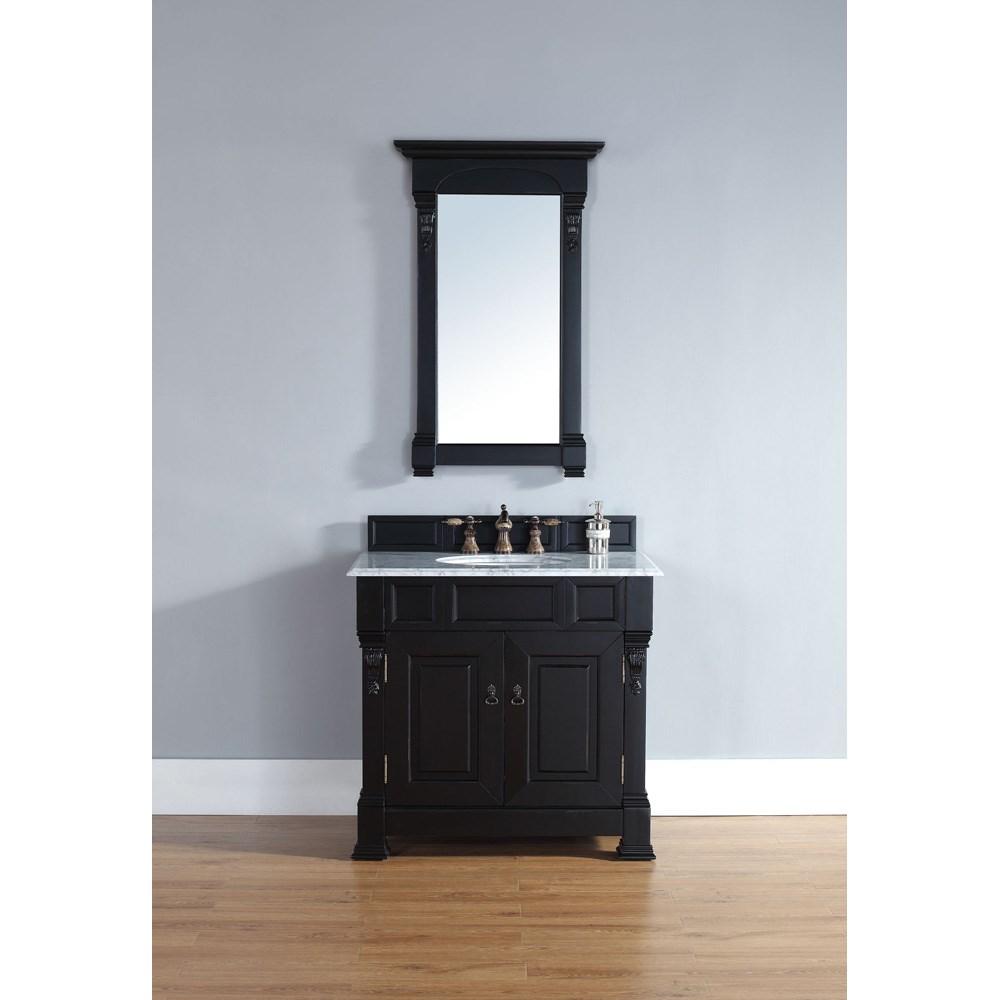 "James Martin 35"" Brookfield Single Cabinet Vanity - Antique Blacknohtin Sale $773.00 SKU: 147-114-5531 :"