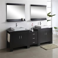 "Virtu USA Tavian 90"" - Double Sink Bathroom Vanity - Espresso MD-7090-ES"