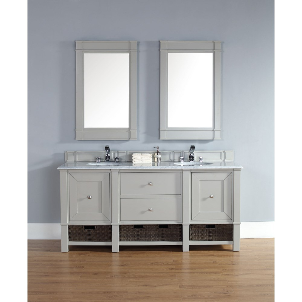 james martin 72 madison double vanity dove gray free shipping rh modernbathroom com