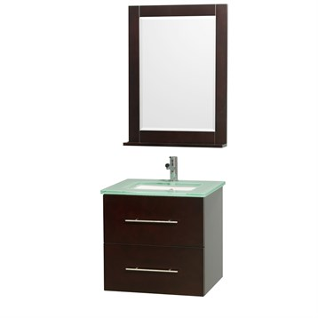 "Centra 24"" Single Bathroom Vanity for Undermount Sinks by Wyndham Collection, Espresso WC-WHE009-24-SGL-VAN-ESP- by Wyndham Collection®"