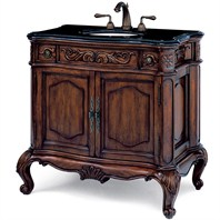 "Cole & Co. 39"" Premier Collection Large Provence Vanity - Aged Chestnut"