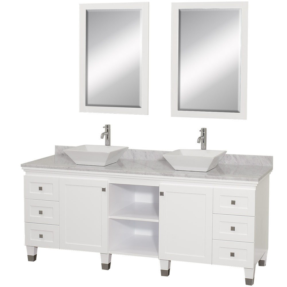 "Premiere 72"" Bathroom Double Vanity by Wyndham Collection - White WC-CG5000-72-WHT-"