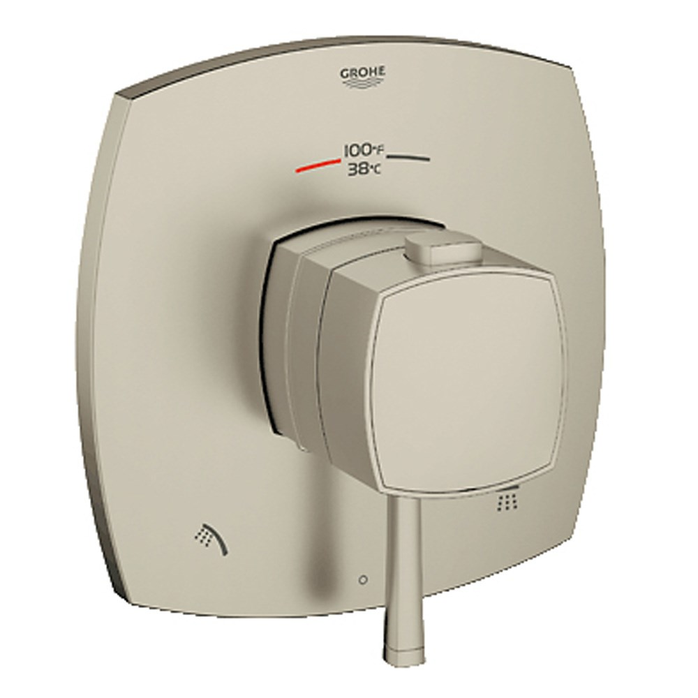 Grohe Grandera Dual Function Thermostatic Trim with Control Module - Brushed Nickelnohtin Sale $611.99 SKU: GRO 19947EN0 :