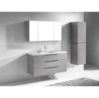"Madeli Bolano 48"" Bathroom Vanity for X-Stone Top - Ash Grey B100-48-002-AG-"