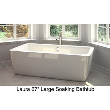 Laura 59 small soaking bathtub by wyndham collection for Most comfortable tub reviews