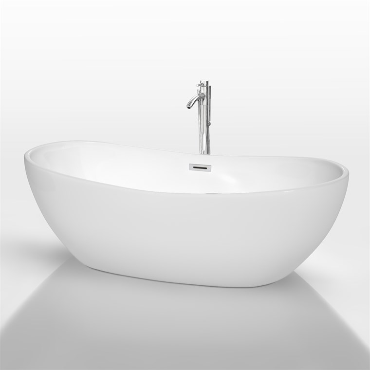 "Rebecca 70"" Soaking Bathtub by Wyndham Collection - White WC-BTU1014-70"