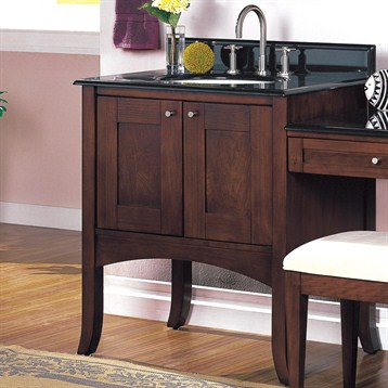 Shaker Bathroom Vanity on 30  Lifestyle Collection Shaker Vanity   Dark Cherry   Free Shipping