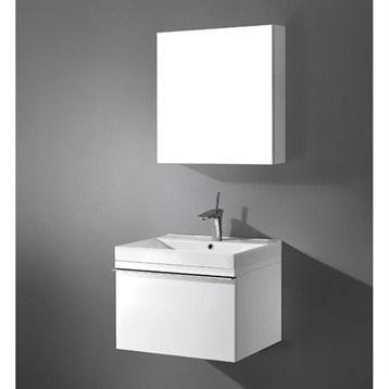 "Madeli Venasca 24"" Bathroom Vanity with Integrated Basin, Glossy White B990-24-002-GW by Madeli"