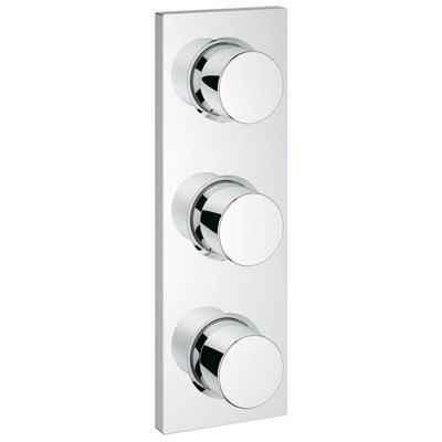 Grohe Grohtherm F Triple Volume Control Trim - Starlight Chrome GRO 27625000