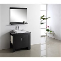"Virtu USA Tavian 36"" Single Sink Bathroom Vanity - Espresso MS-7036"
